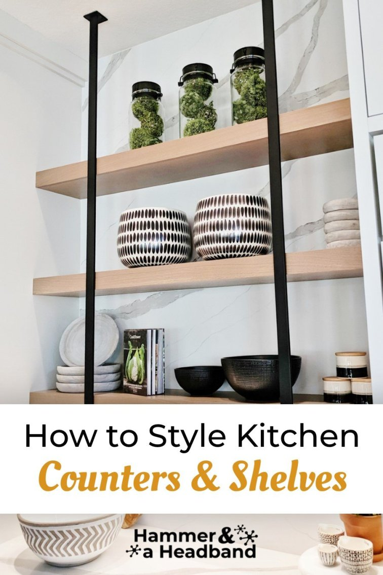 How to style kitchen counters and shelves