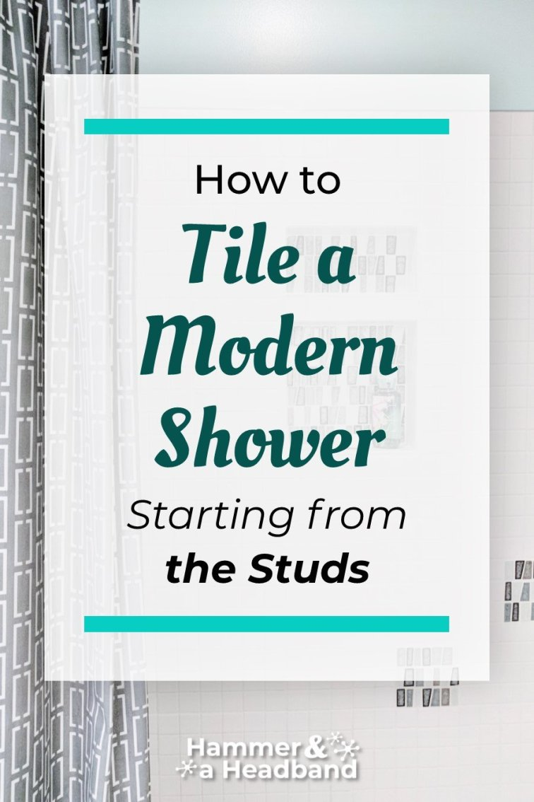 How to tile a modern shower starting from the studs