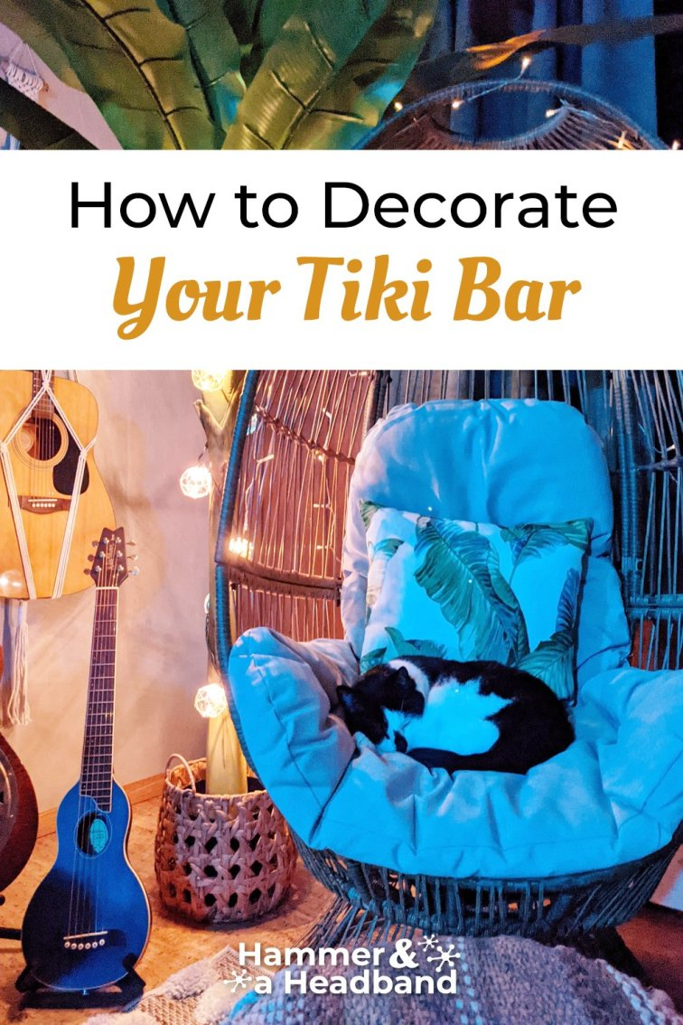 How to decorate your tiki bar