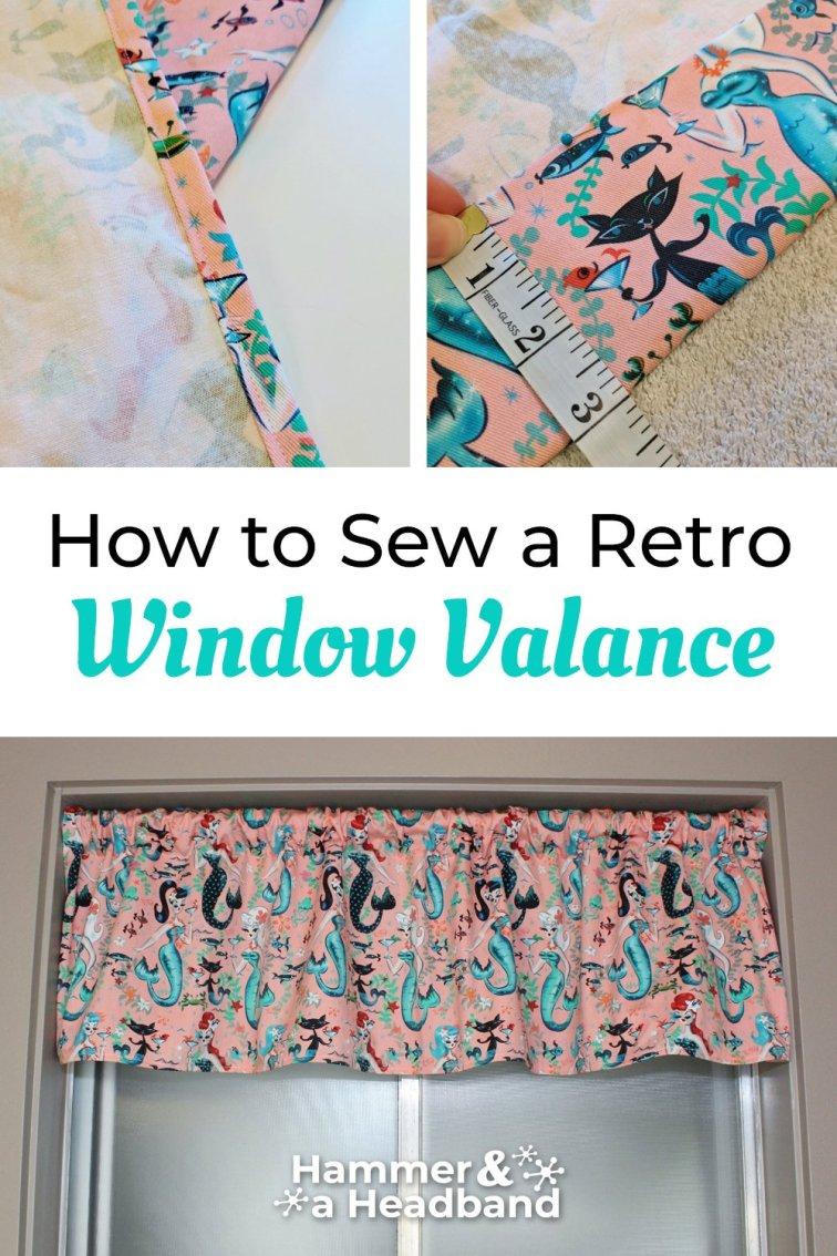 How to sew a retro window valance