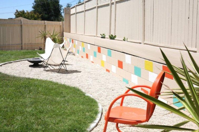 Suburban Pop's colorful cinder block wall