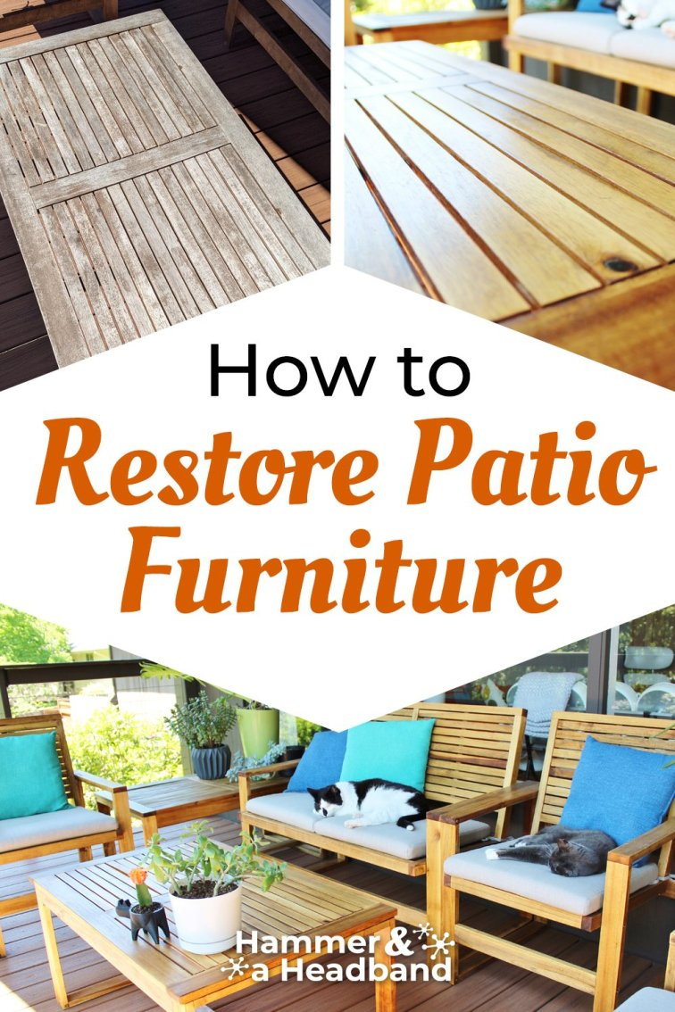 How to restore patio furniture