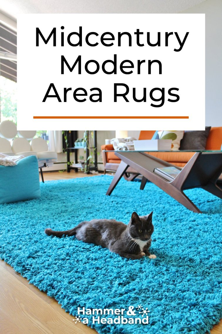 Mid-century modern area rugs for the living room