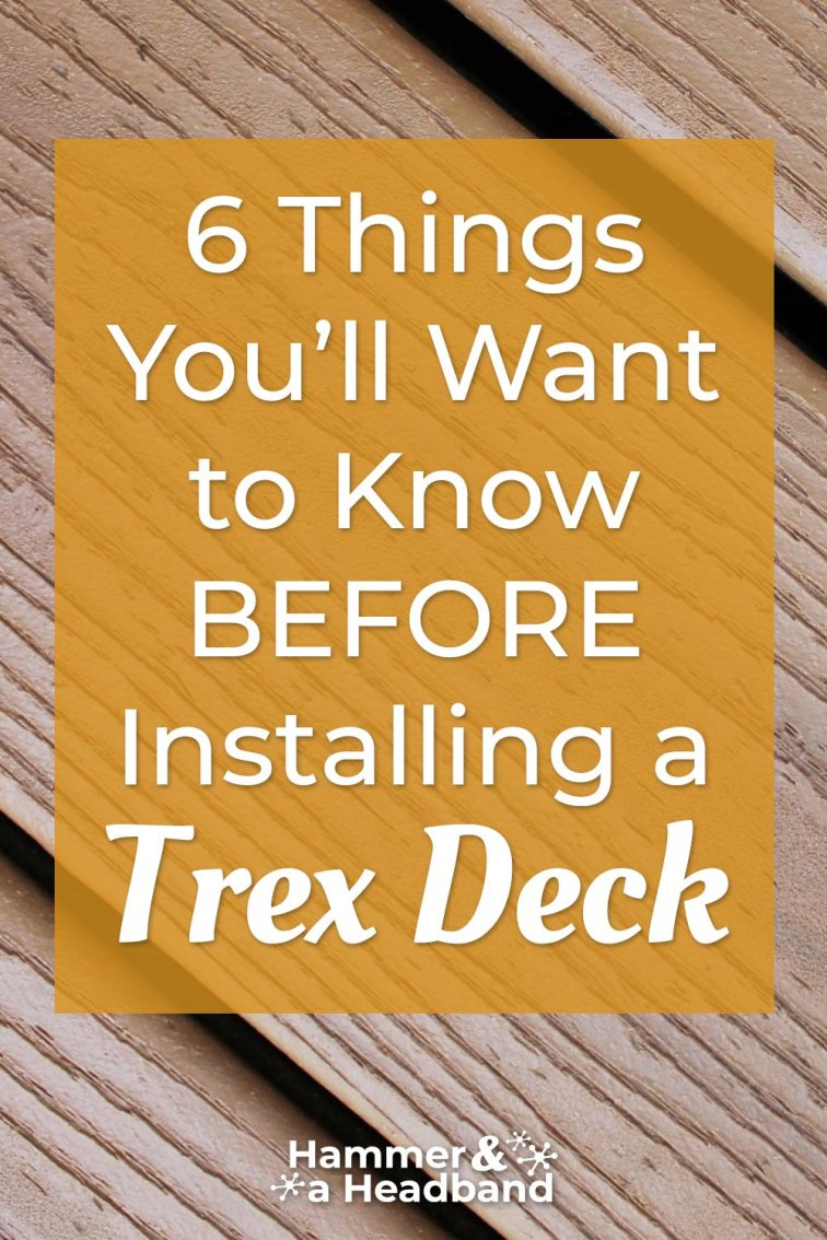 What you'll want to know before installing a Trex deck
