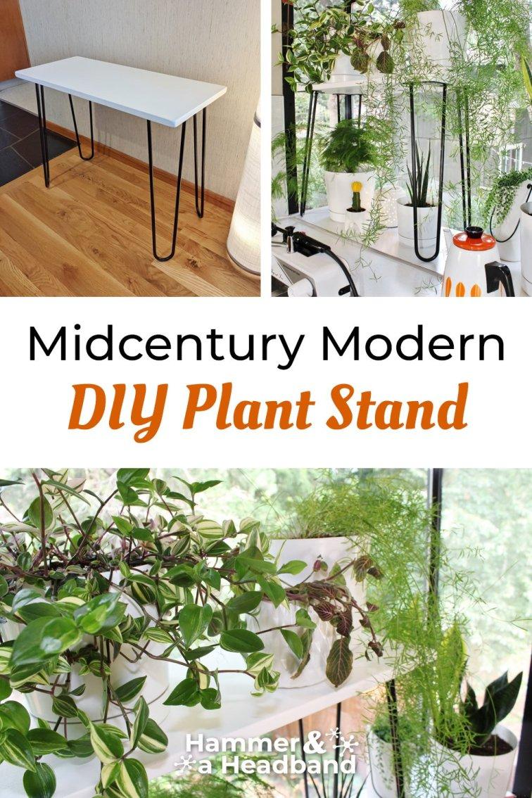 Mid-century modern DIY plant stand