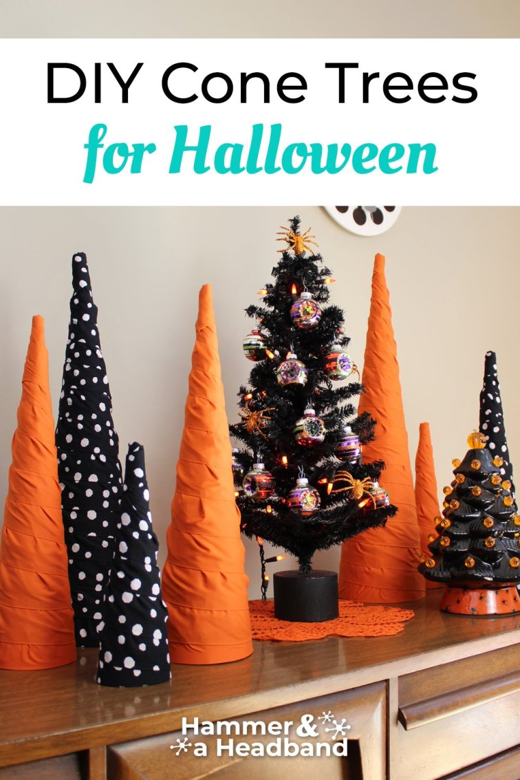 DIY cone trees for Halloween