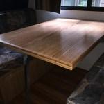 Renovated camper interior table
