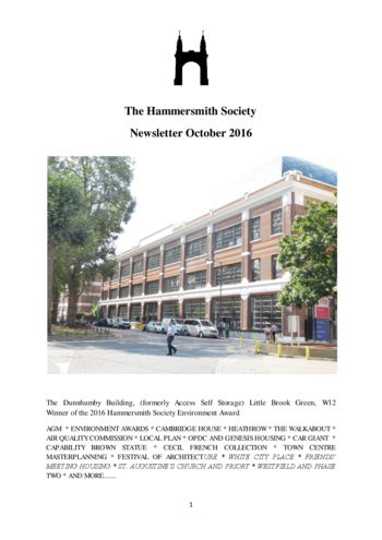 2016-oct-newsletter-hammersmith-society
