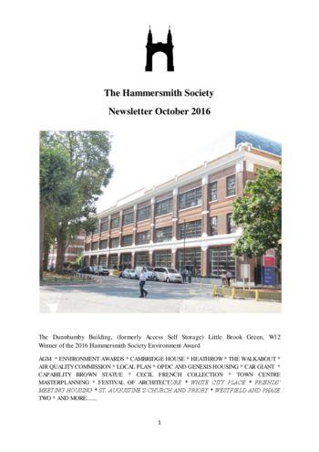 2016-oct-newsletter-hammersmith-society