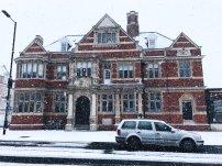 Bush theatre snow