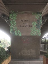 Plants not pollution - Hammersmith Flyover