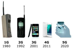 1G to 5G phones