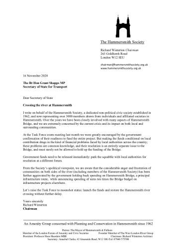 thumbnail of Rt Hon Grant Shapps MP Hammersmith Bridge 16.11.20