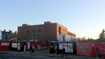 Town Hall extension demolished sunny