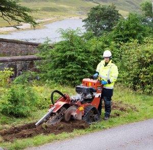 Openreach fibre digging