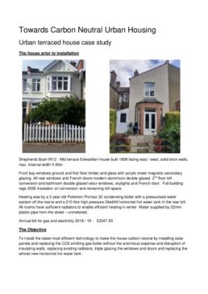 thumbnail of Carbon Neutral urban house case study