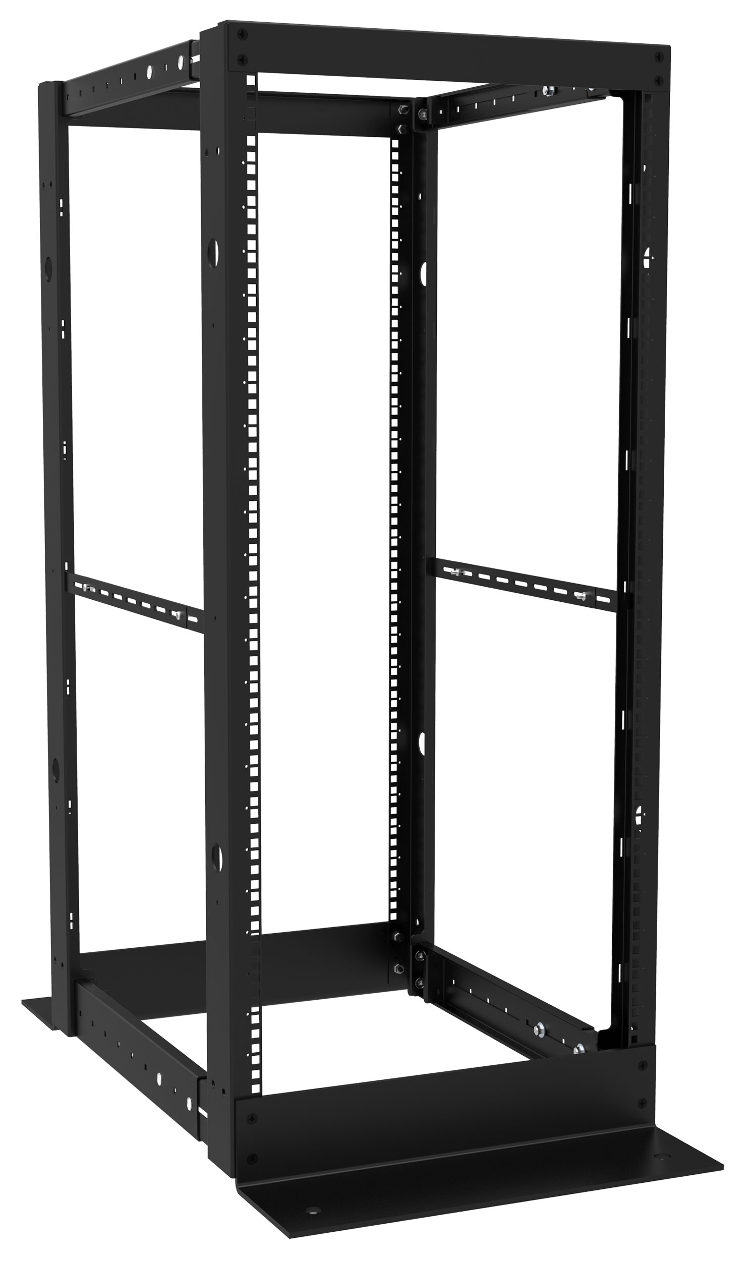 4 post open frame rack dc4r series