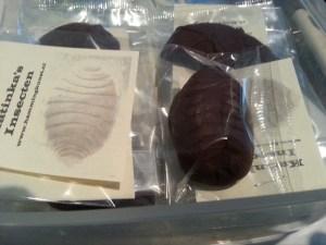 Chocolaatje met meelwormen
