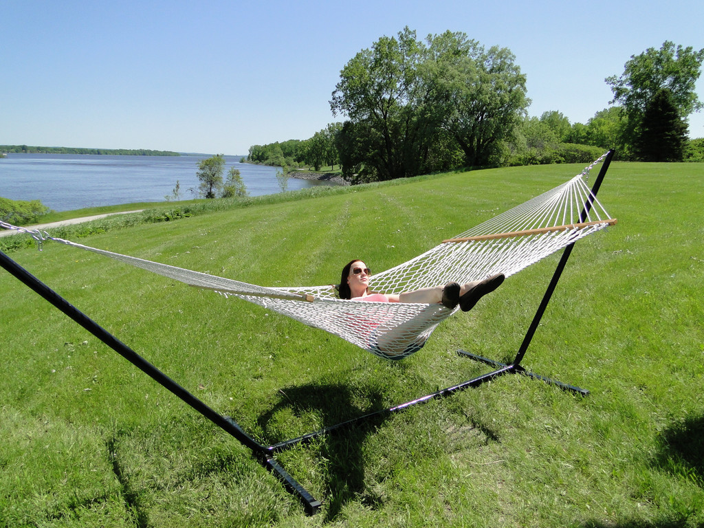 Choosing The Cotton Rope Hammock With 3 Beam Stand Buy