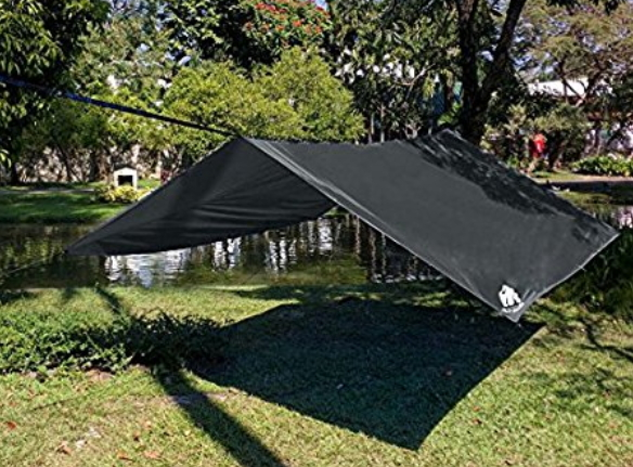 CHILL GORILLA 10u2032 HAMMOCK RAIN FLY TENT TARP Waterproof C&ing Shelter. Lightweight RIPSTOP NYLON u0026 Not Cheap Polyester. Stakes Included. Survival Gear. & Shelter. | Hammock Tent Shop