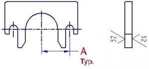 Core rod retainer clip