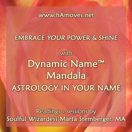 Dynamic Name Mandala by Soulful Wizardess Marta Stemberger