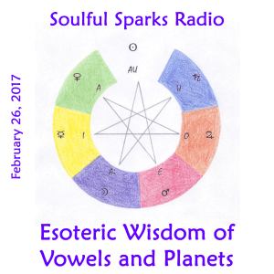 Vowels and Planets on Soulful Sparks Radio, Feb-26-2017