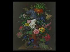 Eryk Schmetterling Blumen Iris Painting By Eryk Maler Artmajeur
