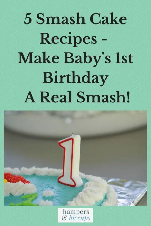5 Smash Cake Recipes