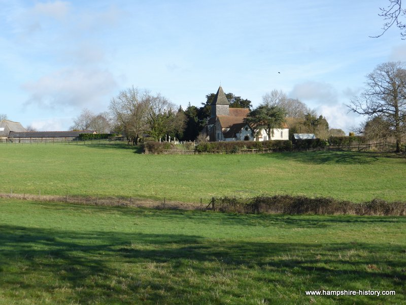 The Roman city of Silchester and post Roman church.