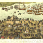 Cowdray Engraving of the Battle of the Solent