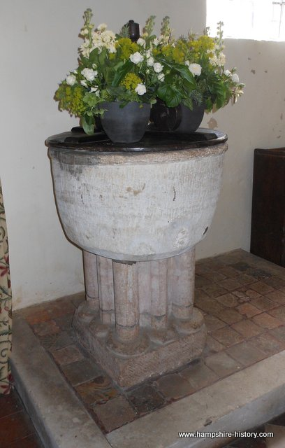 Baptismal font Hurstbourne Tarrant