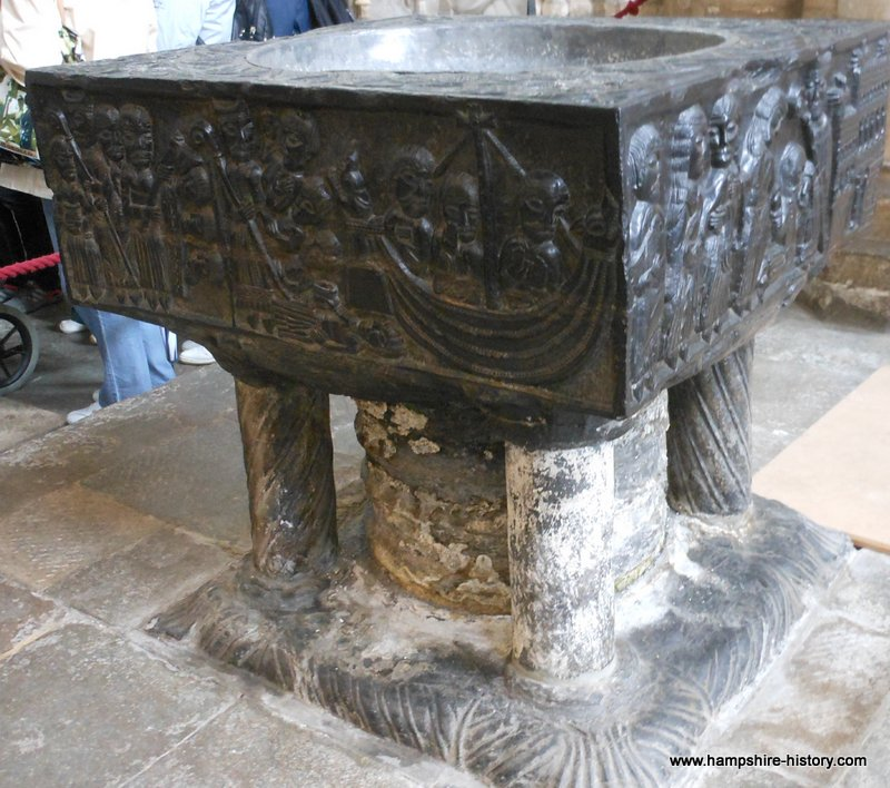 The Tournai Font Winchester Cathedral Hampshire