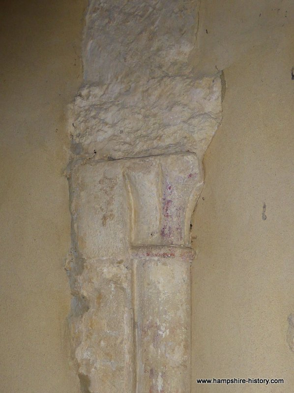 Late Norman scalloped capital