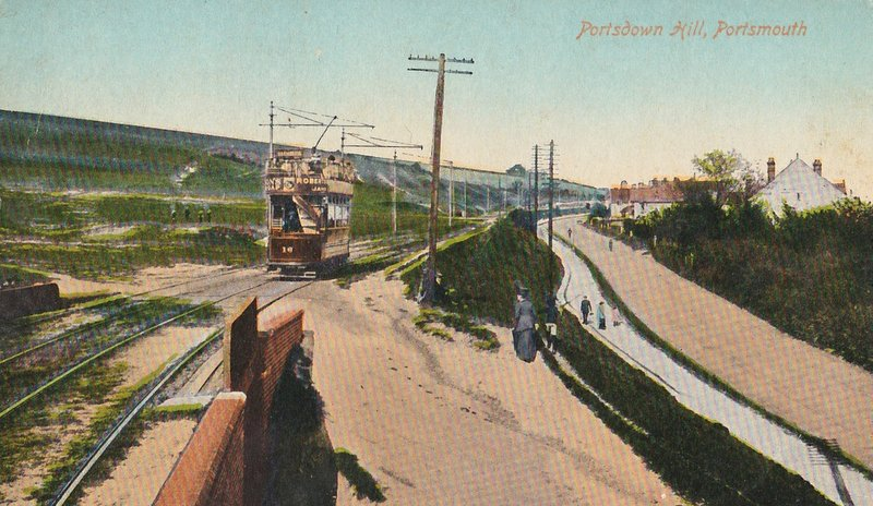 Trams on Portsdown Hill
