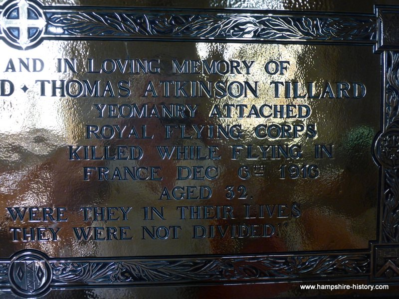 WW1 Memorial the Tillard Brothers