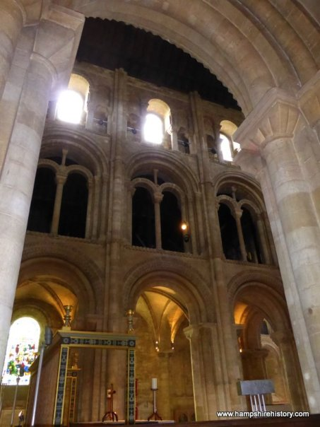 Norman architecture in Romsey Abbey