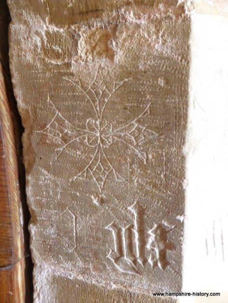 Kings Somborne Church carving