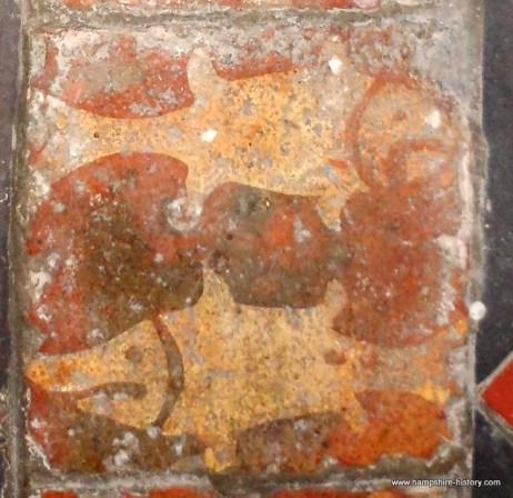 Medieval Fish tiles Hartley Mauditt church
