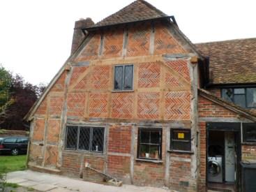 Oak timber frame farmhouse herringbone