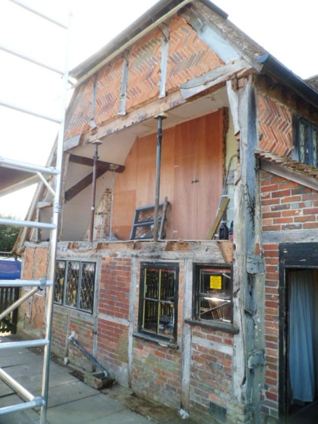 Timber frame farmhouse repair Hampshire