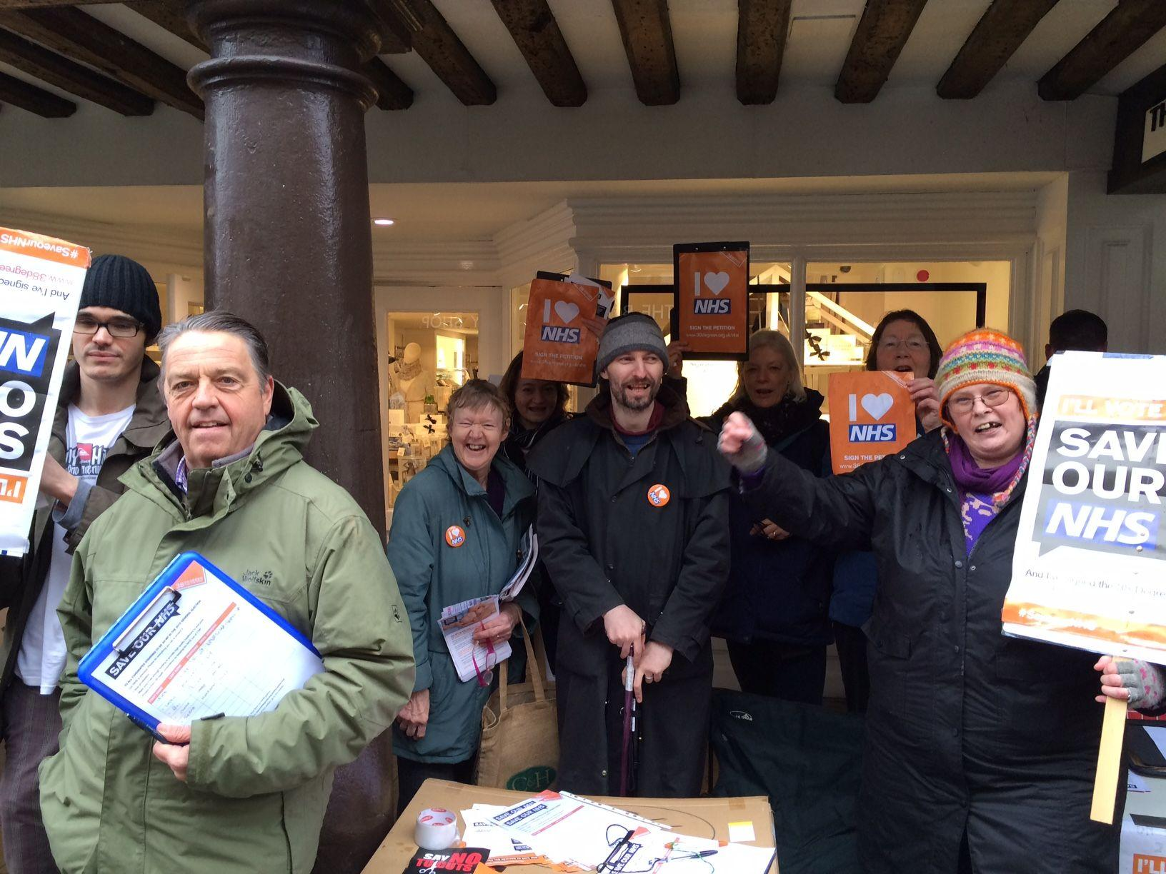 38Degrees campaigners in Winchester High Street on Saturday