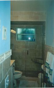 Bathroom #2, Glass-door Shower