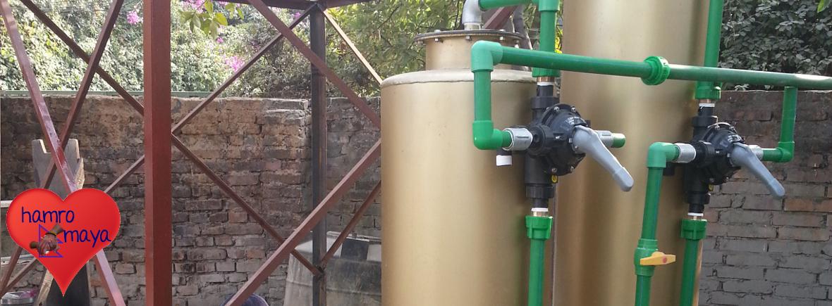Wasserfilteranlage in der Behindertenschule