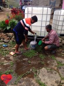 Endlich Wasser im Dorf