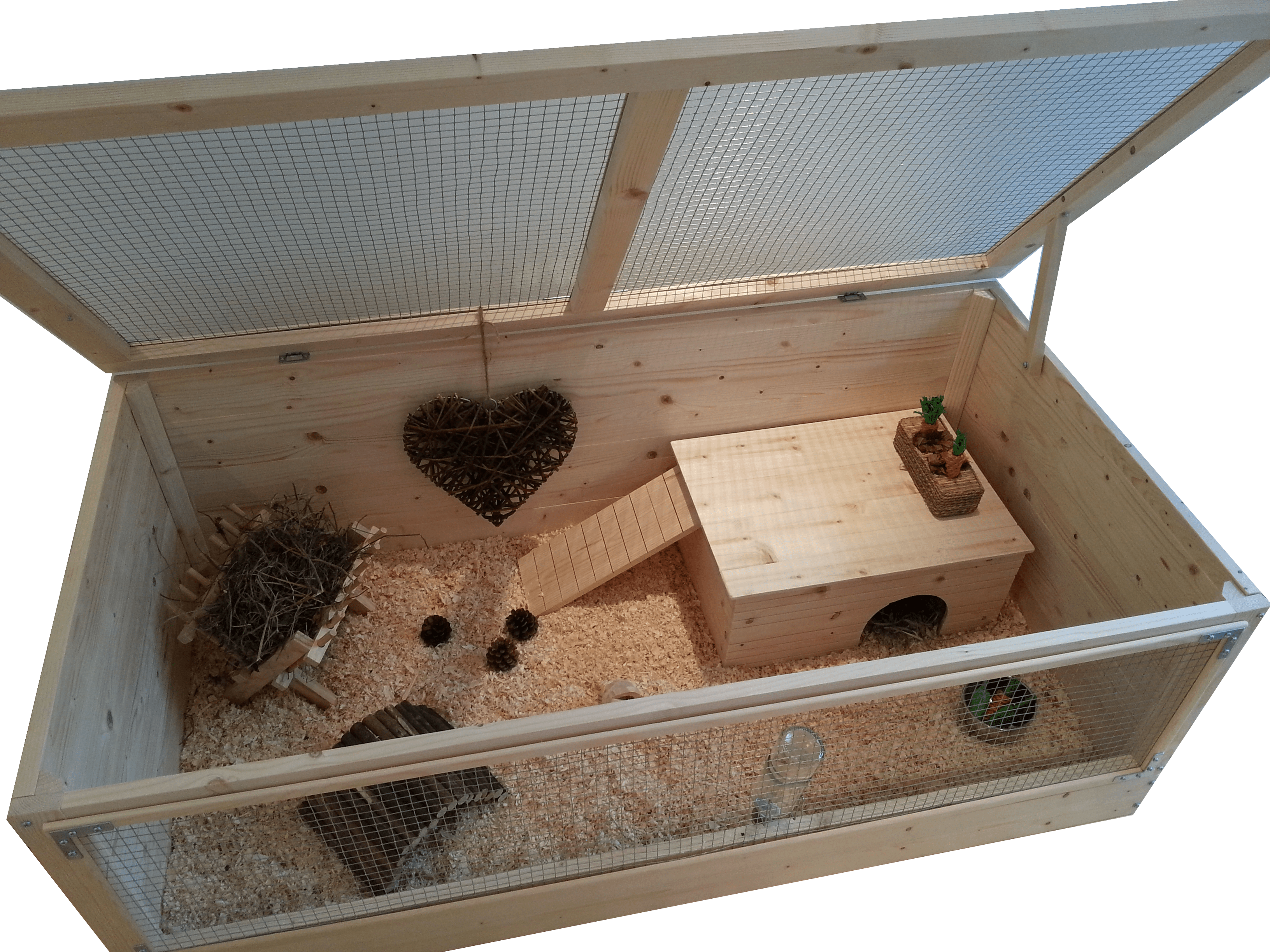Large Wooden Guinea Pig Cage With Roof