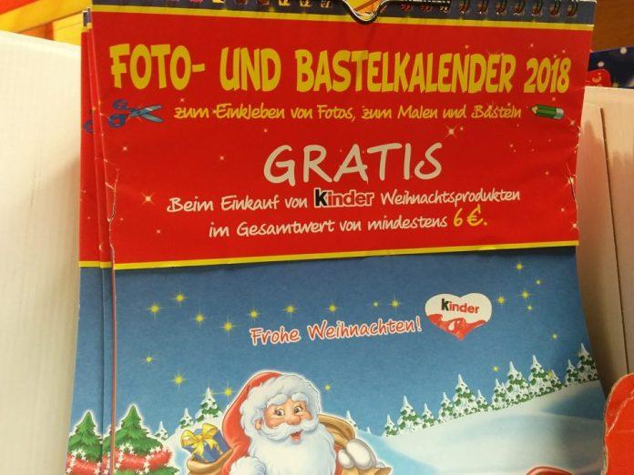 Kinderschokolade Fotokalender
