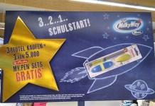 3..2..1 Schulstart: Mars, Twix, Bounty, Snickers, Milky Way Minis: My.Pen Stiftset von Herlitz gratis