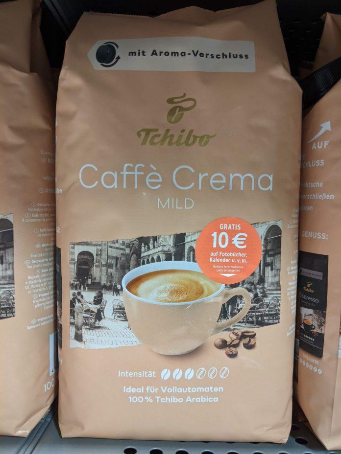 Tchibo Caffe Crema: 10 Euro Rabatt für Tchibo Fotoprodukte