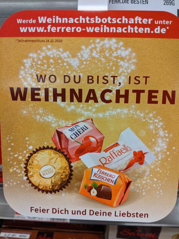 Ferrero Weihnachtsbotschafter werden und gewinnen